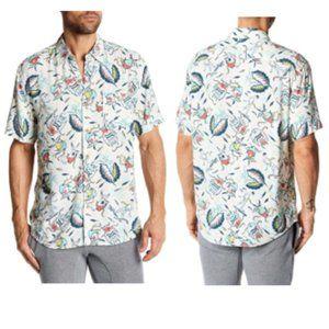 Faherty Short Sleeve Hawaiian Shirt Eternal Reef